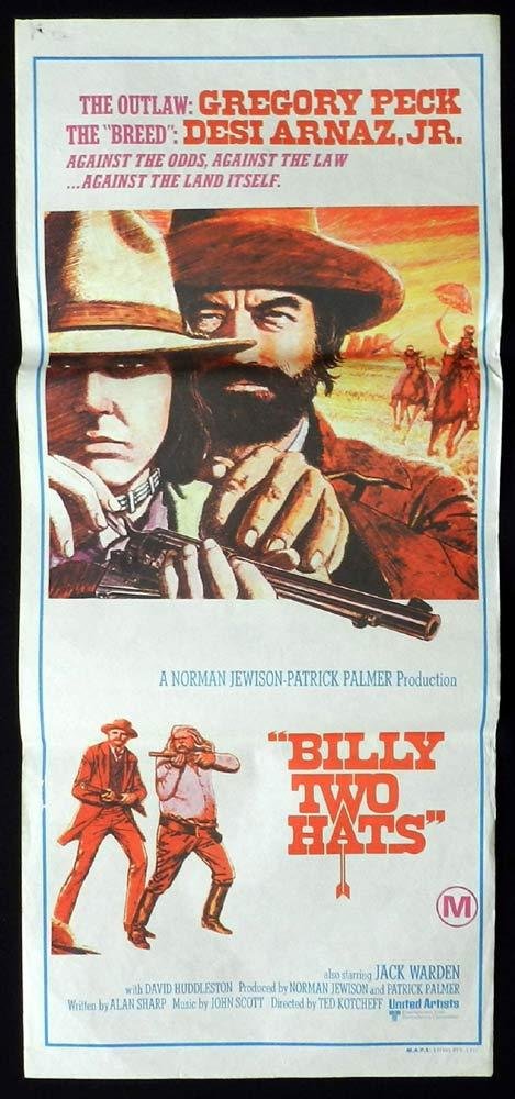 BILLY TWO HATS Daybill Movie Poster Gregory Peck