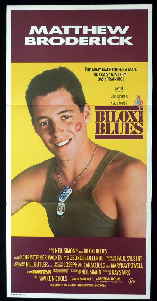 BILOXI BLUES Daybill Movie Poster Matthew Broderick Christopher Walken