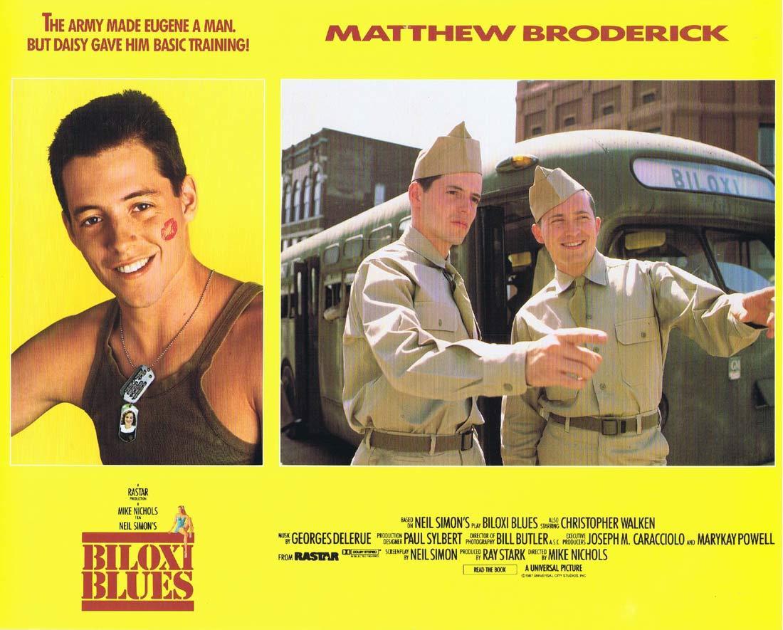 BILOXI BLUES Original Lobby Card 1 Matthew Broderick Christopher Walken