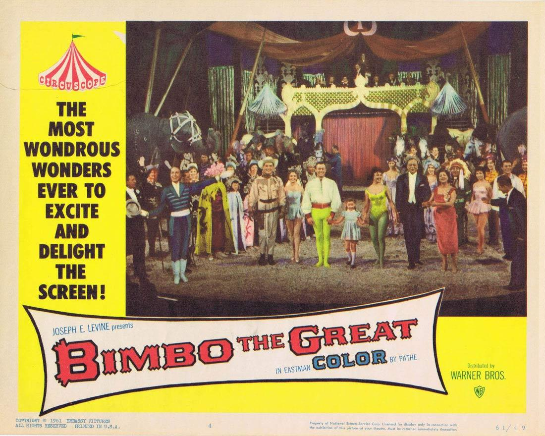 BIMBO THE GREAT Lobby Card 3 Rivalen der Manege Circus