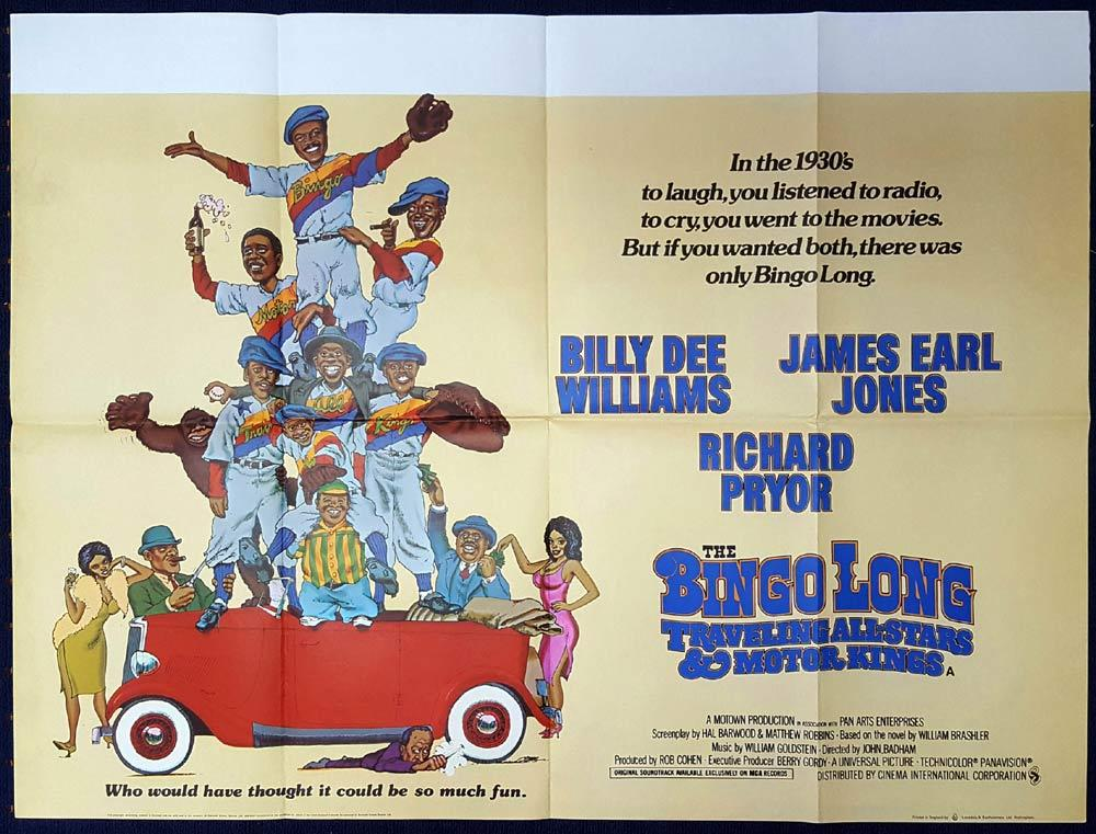 BINGO LONG TRAVELING ALL STARS & MOTOR KINGS British Quad Movie poster