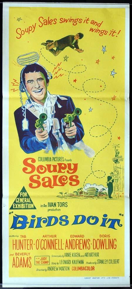 BIRDS DO IT Original Daybill Movie Poster Soupy Sales Tab Hunter