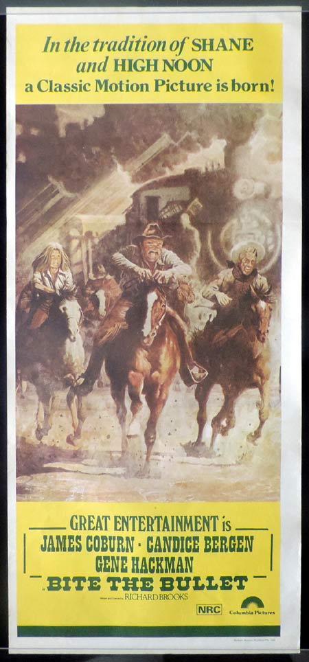 BITE THE BULLET Original Daybill Movie poster  Gene Hackman Candice Bergen