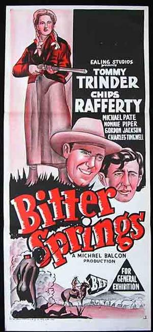 BITTER SPRINGS Daybill Movie Poster 1950 Chips Rafferty