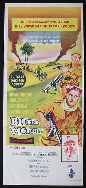 BITTER VICTORY Daybill Movie poster Richard Burton