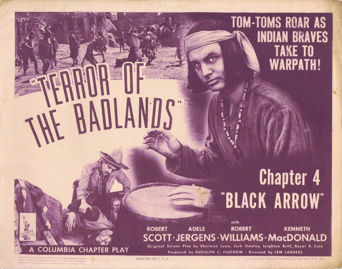 BLACK ARROW Original Title Lobby Card Columbia Serial Chapt 4