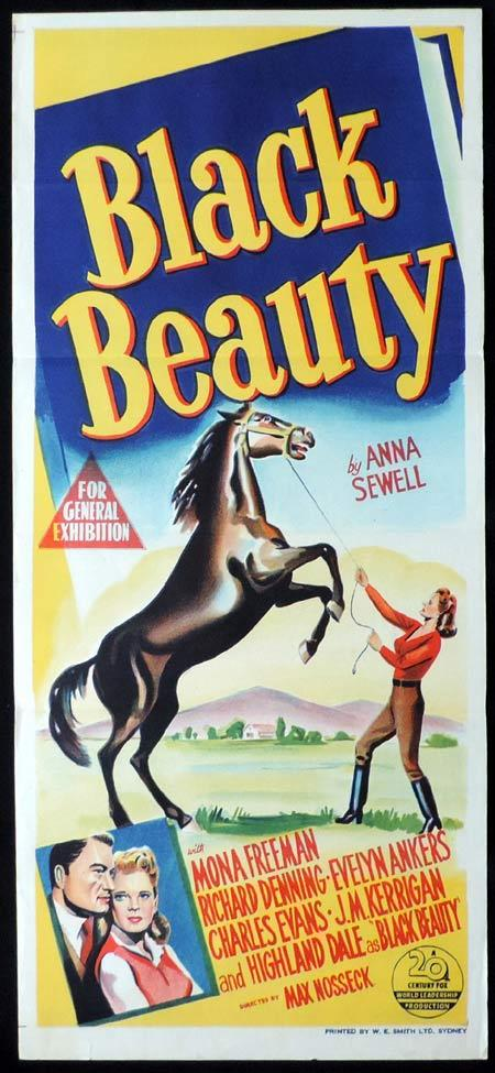 BLACK BEAUTY Original Daybill Movie Poster Loretta Young Mona Freeman