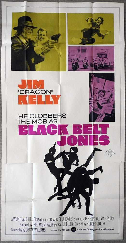 BLACK BELT JONES Original 3 Sheet Movie Poster Jim Kelly Gloria Hendry