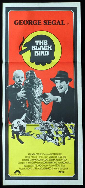 THE BLACK BIRD George Segal Maltese Falcon RARE Daybill Movie poster