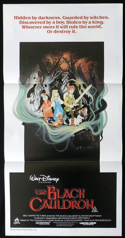 THE BLACK CAULDRON Original Daybill Movie poster Grant Bardsley Freddie Jones