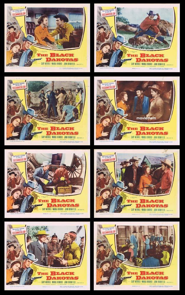 THE BLACK DAKOTAS Original Lobby Card set Gary Merrill Wanda Hendrix