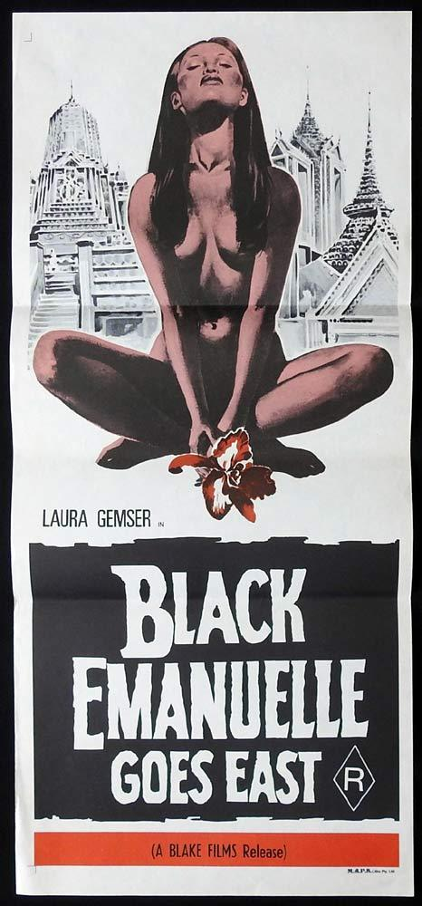 BLACK EMANUELLE GOES EAST Original Daybill Movie Poster Laura Gemser