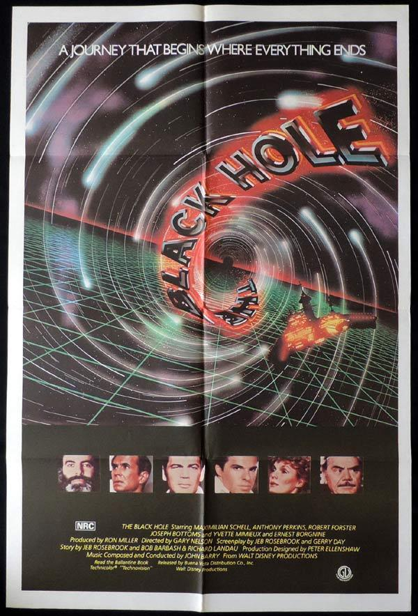 THE BLACK HOLE One Sheet Movie Poster Anthony Perkins Ernest Borgnine