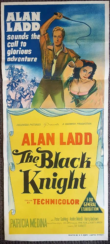 THE BLACK KNIGHT Original Daybill Movie Poster Alan Ladd Peter Cushing