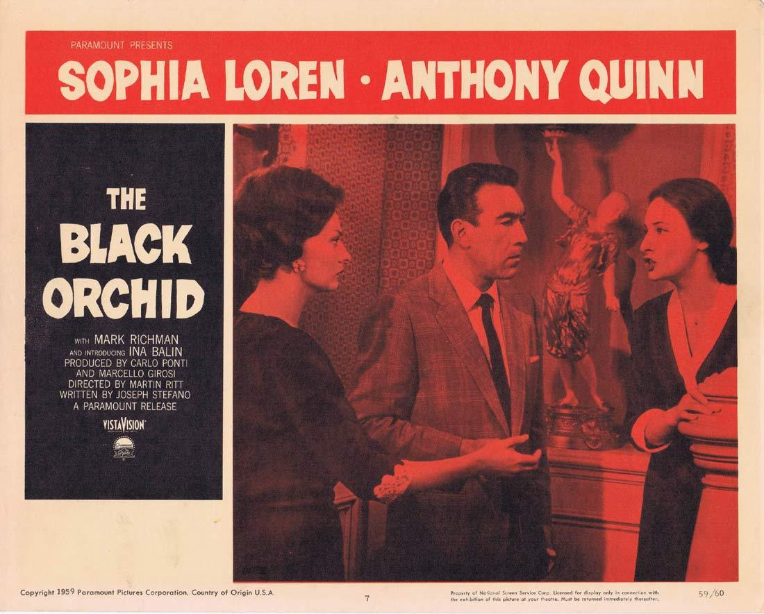 BLACK ORCHID Original Lobby Card 7 Sophia Loren Anthony Quinn