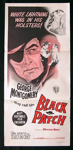BLACK PATCH Original Daybill Movie Poster George Montgomery Sebastian Cabot