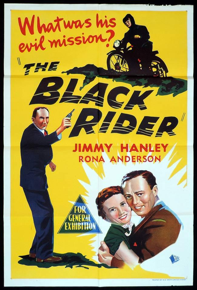 THE BLACK RIDER Original One sheet Movie Poster JIMMY HANLEY Motorcycle Biker