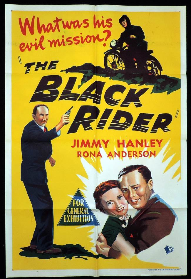 THE BLACK RIDER One Sheet Movie Poster Jimmy Hanley Motorcycle Biker