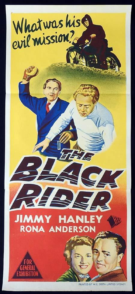 THE BLACK RIDER Daybill Movie Poster MOTORCYCLE BIKER Jimmy Hanley