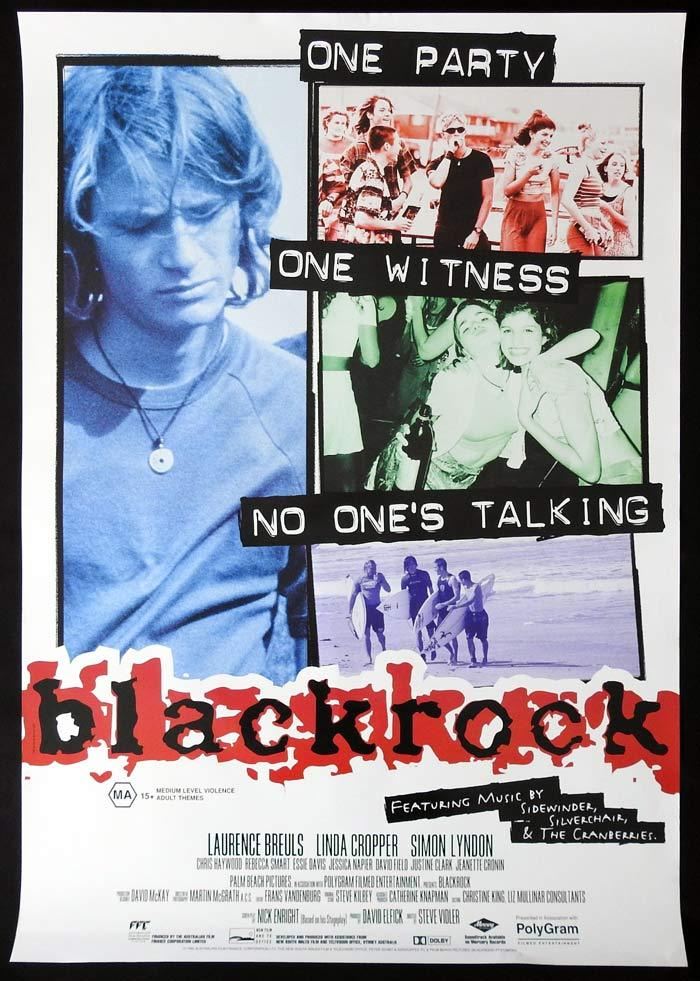 BLACKROCK Movie poster 1997 Steven Vidler Australian Cinema One sheet