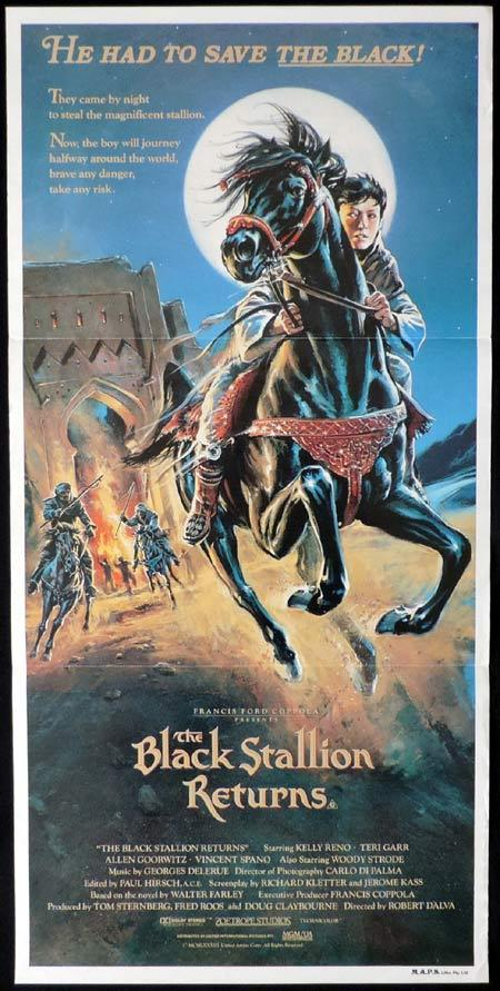 THE BLACK STALLION RETURNS Original Daybill Movie poster Francis Ford Coppola