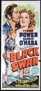 THE BLACK SWAN Original Daybill Movie Poster Tyrone Power Maureen O'Hara