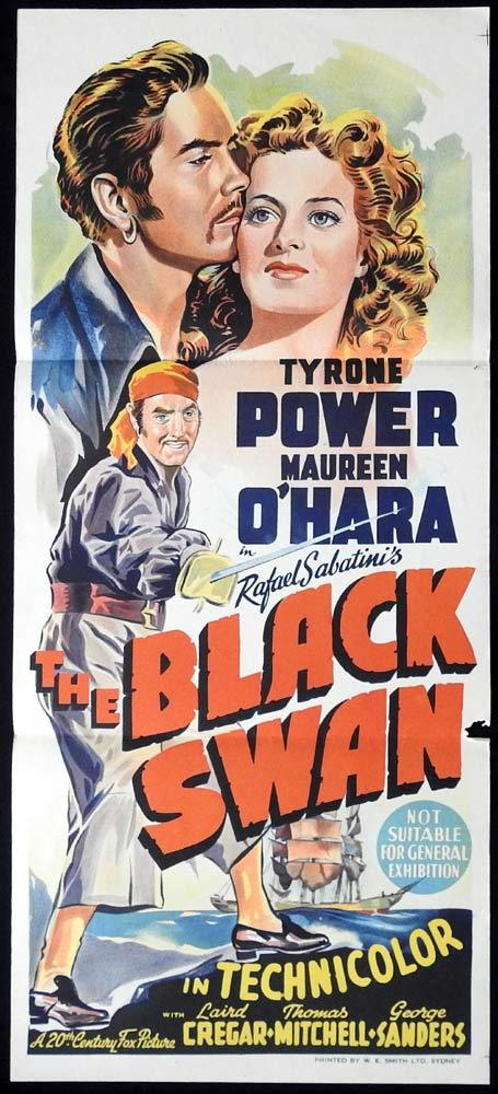 THE BLACK SWAN Original Daybill Movie Poster Tyrone Power Maureen O'Hara
