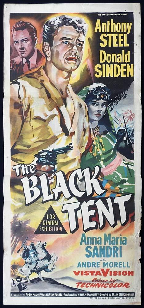 THE BLACK TENT Original Daybill Movie Poster Donald Sinden