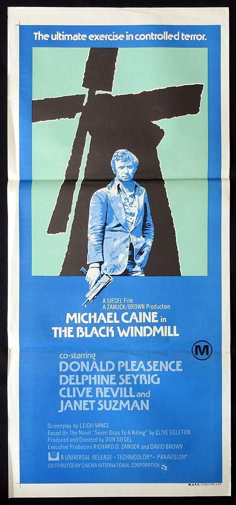 THE BLACK WINDMILL Original Daybill Movie poster Michael Caine