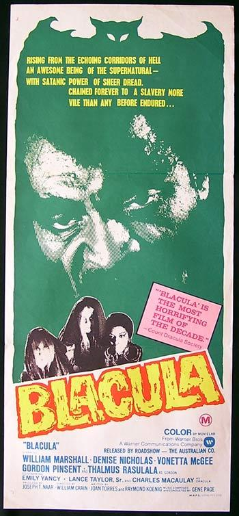 BLACULA Daybill Movie Poster William Marshall Blaxploitation Dracula
