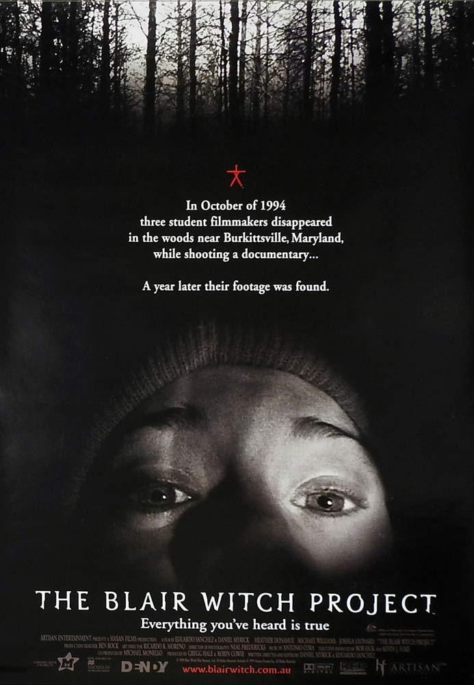 THE BLAIR WITCH PROJECT Original One sheet Movie Poster Heather Donahue Horror A