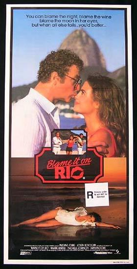 BLAME IT ON RIO Original daybill Movie poster 1984 MICHAEL CAINE