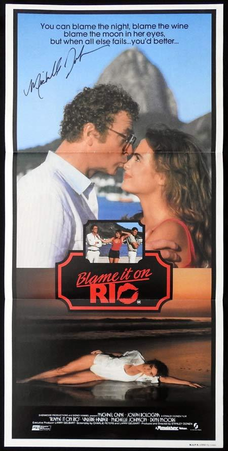 BLAME IT ON RIO Original Daybill Movie Poster Autographed by Michelle Johnson