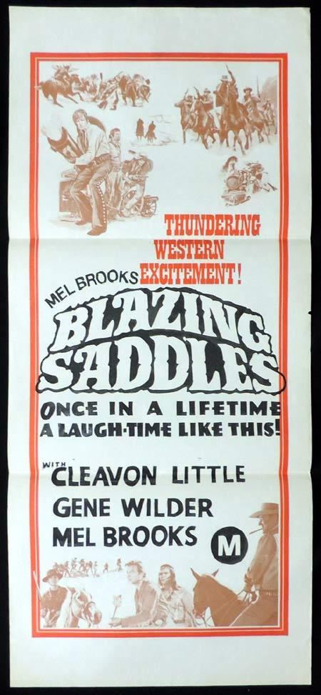 BLAZING SADDLES Original Stock 70sr Daybill Movie Poster Mel Brooks