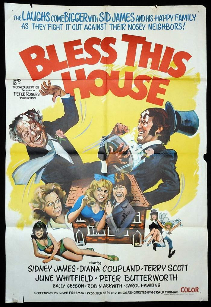 BLESS THIS HOUSE Original One sheet Movie poster Sid James Diana Coupland