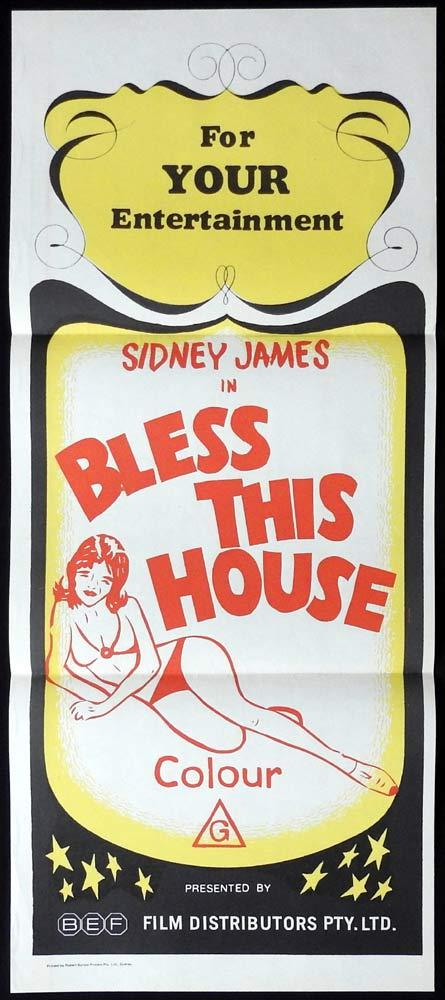 BLESS THIS HOUSE Original Stock 70s Daybill Movie Poster Sid James