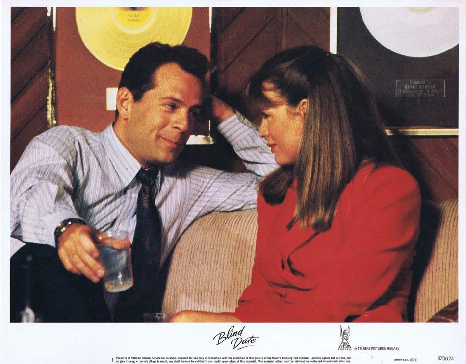 BLIND DATE Lobby Card 1 Bruce Willis Kim Basinger.
