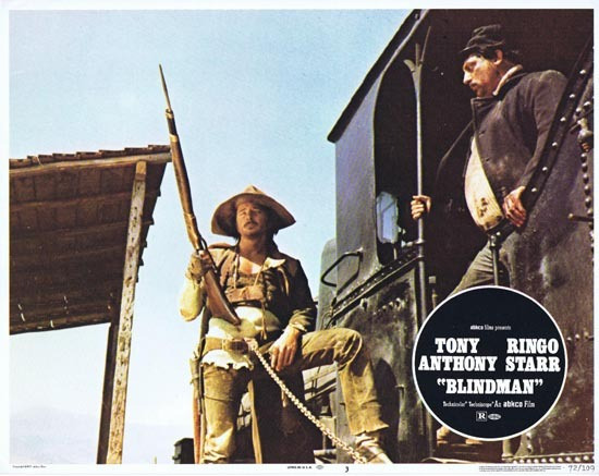 BLINDMAN 1972 Lobby Card 3 Tony Anthony Ringo Starr