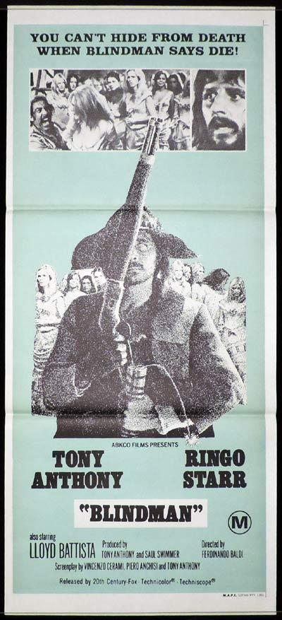 BLINDMAN Daybill Movie Poster Ringo Starr