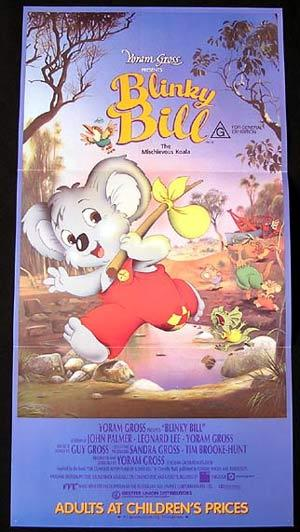 BLINKY BILL Original Daybill Movie Poster Mischievous Koala