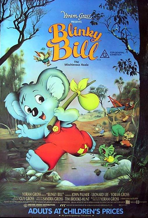 "BLINKY BILL Original ROLLED 1 sheet movie poster Koala ""A"""