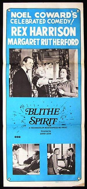 BLITHE SPIRIT Original Daybill Movie Poster Noel Coward Margaret Rutherford 72r