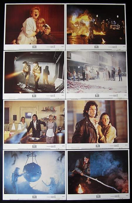 THE BLOB Lobby card Set 1980 Sci Fi Horror