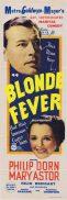 BLONDE FEVER Original Daybill Movie Poster Phillip Dorn Mary Astor