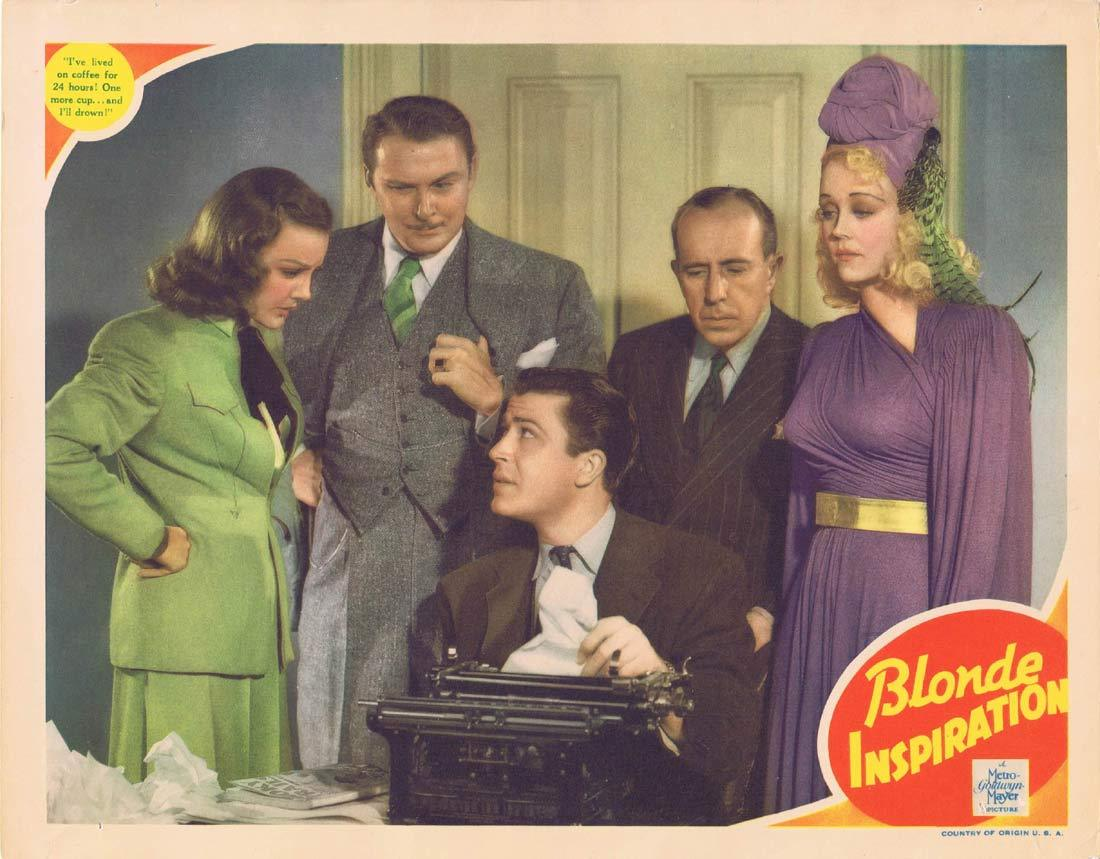 BLONDE INSPIRATION Original Lobby Card John Shelton Virginia Grey Albert Dekker 1941