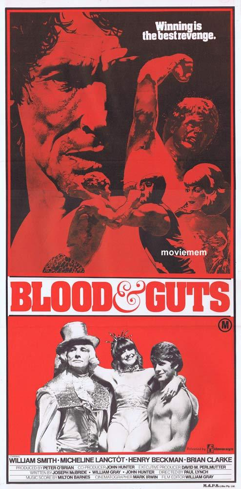 BLOOD AND GUTS Original daybill Movie Poster WRESTLING William Smith