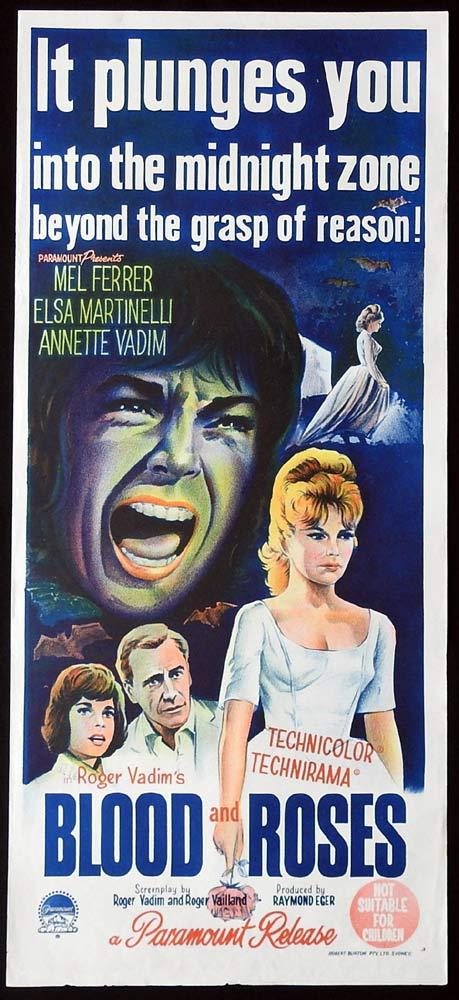 BLOOD AND ROSES Original Daybill Movie Poster Mel Ferrer Vampire Elsa Martinelli
