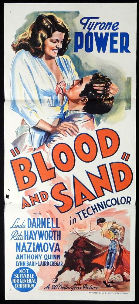BLOOD AND SAND Original Daybill Movie Poster Tyrone Power Linda Darnell