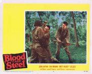 BLOOD AND STEEL Lobby Card 2 John Lupton James Edwards Brett Halsey 1959