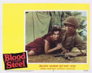 BLOOD AND STEEL Lobby Card 3 John Lupton James Edwards Brett Halsey 1959